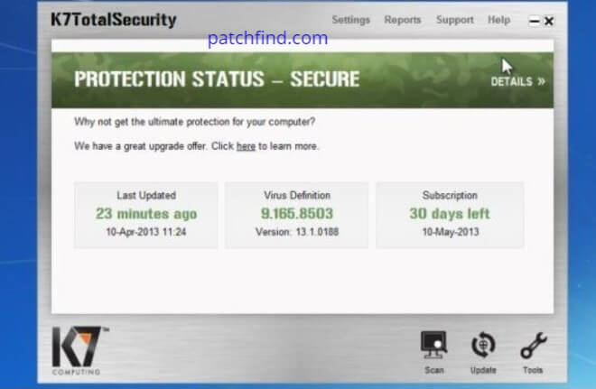 K7 Total Security activation code