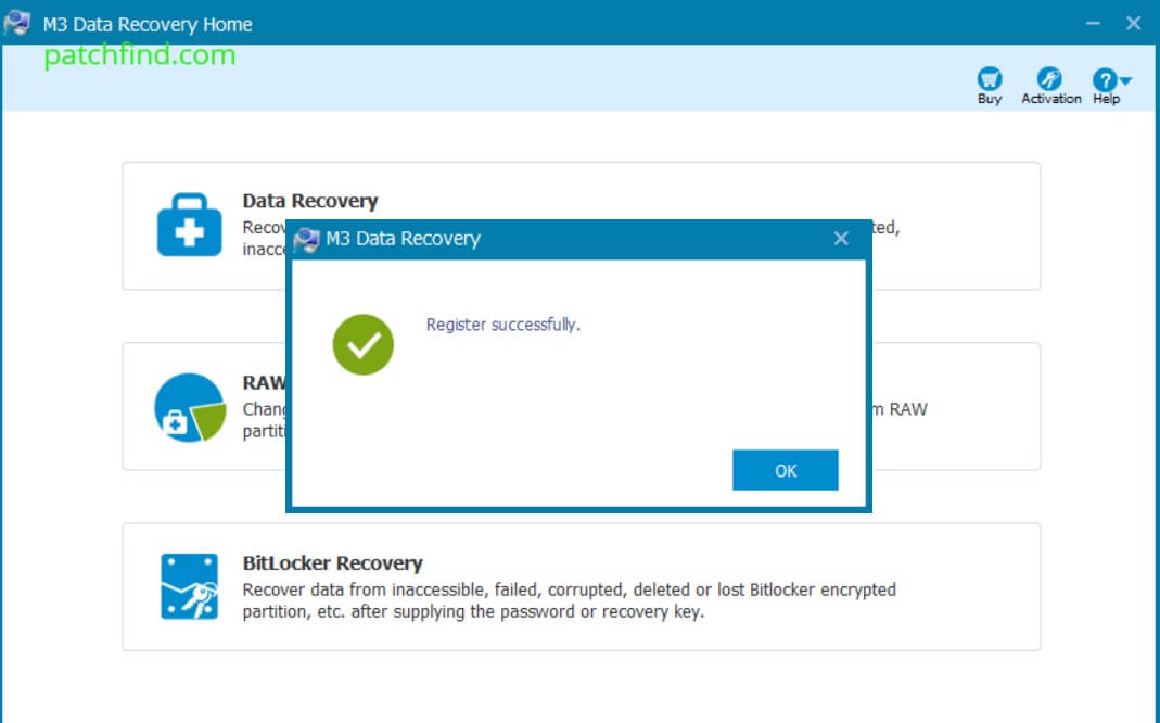 M3 Data Recovery activation key